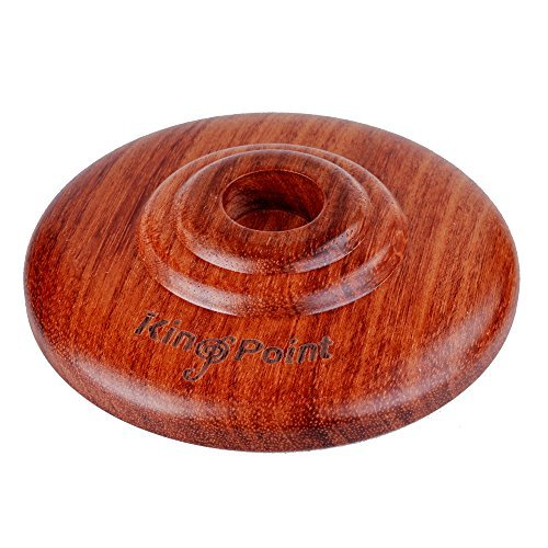 kingpoint echtem Rosenholz Cello Endpin Rest mit Hard Gummierte Matte Anti-Rutsch