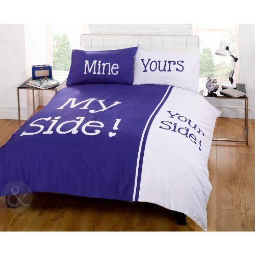Bedtime Humor Bettbezug, Ideales Geschenk für Weihnachten, Bettwäsche, Tropen-Design, Baumwollmischung, Navy ( Blue White ), Kingsize Bettbezug (Kingsize Navy Bettbezug Blue)