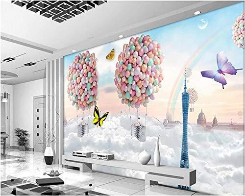 2019 Custom Mural Silk Tuch 3D Raum Tapeten Wand Bunte Luftballons Traum Foto 3D Wallpaper Für Wände 3 D Aufkleber Fototapete 3D Effekt-208x146CM (Mit Fotos Luftballons Sie Auf)