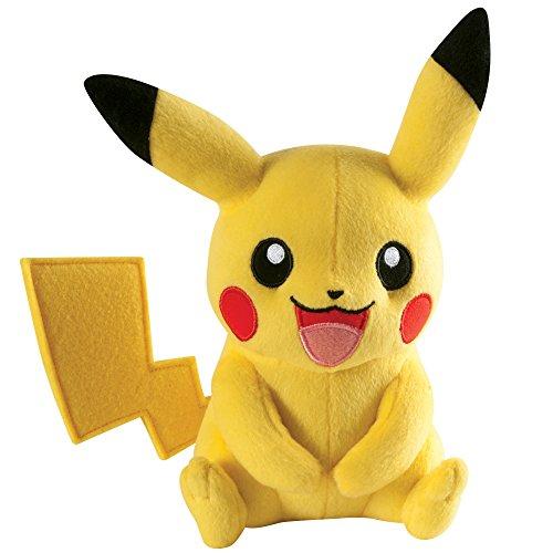 Preisvergleich Produktbild Tomy Pikachu Plüsch - hochwertiges Pokémon Stofftier - zum Spielen und Sammeln - ab 3 Jahre