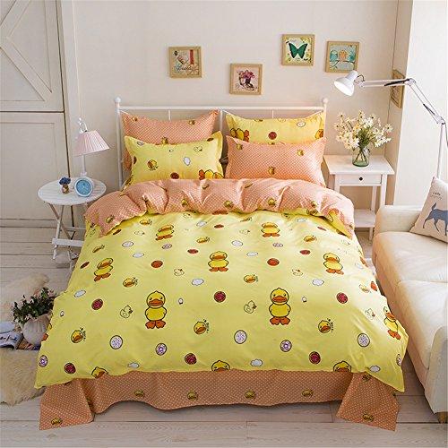 zhizhen Colorful Kinder Cartoon Tier gedruckt Design duver und Kissenbezüge Set 4Bettwäsche-Set, Ente, 150*200cm for 1.2M Bed