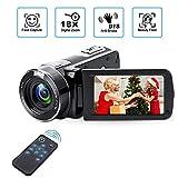 Digitaler Camcorder mit IR-Nachtsicht, Weton 1080P Full HD Digital Videokamera 24,0 Megapixel, 18 Fach Digital Zoom Videokamera (Zwei Batterien enthalten).