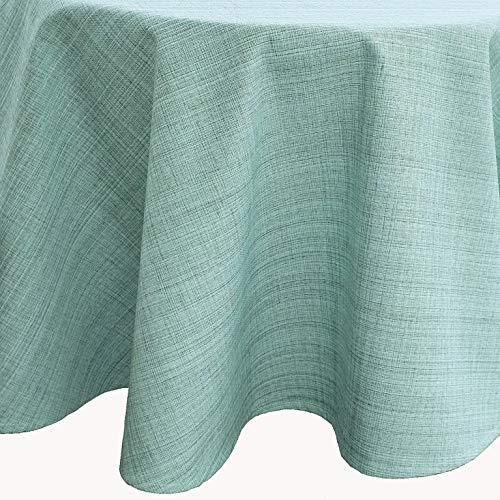 Raebel OHG Outdoor Tischwäsche wetterbeständig für Draussen und Drinnen - Größe und Farbe wählbar (145 cm rund, Mint)