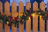 80 LEDs weihnachtliche Girlande in rot Länge 500 cm Außen