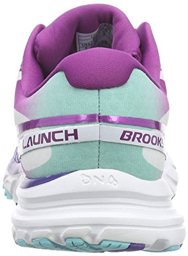 Brooks Damen Launch 2 Turnschuhe Lila/Türkis