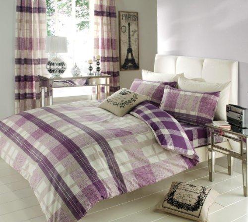 Double Bed Venezia Purple Duvet Set