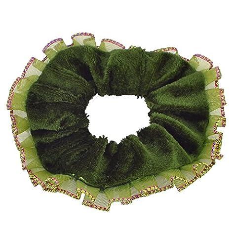 Frauen Green Velvet Verbandsmull Rim-Haar-Riegel-Band-Pferdeschwanz-Halter