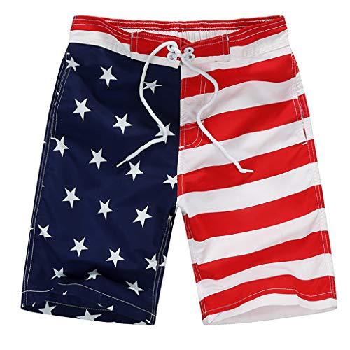 der Schwimmen 4. Juli Stamm amerikanische Flagge Badehose Shorts USA Swimtrunk ()