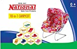 National 10 in 1 Baby Carry Cot, Baby Bedding(Pink,Blue)