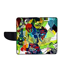 KolorEdge Printed Flip Cover For Lenovo A5000 -Multicolor (50KeMLogo10491LenovoA5000)