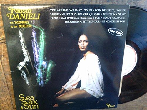 Fausto Danieli ses saxophones et son orchestre Sea sax & sun vinyle vogue 20366