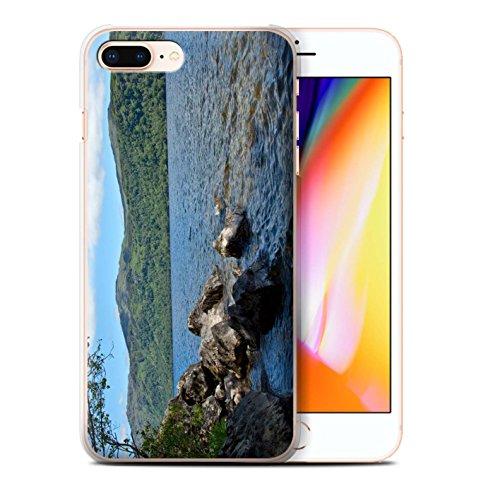 Stuff4 Hülle / Case für Apple iPhone 8 Plus / Ströme Muster / Schottisch Landschaft Kollektion Loch/Felsen