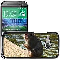 GoGoMobile Carcasa Funda Prima Delgada SLIM Casa Case Bandera Cover Shell para // M00123883 Crackers Monkey Business Zoo Series // HTC One Mini 2 / M8 MINI / (Not Fits M8)