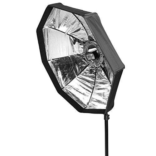 Life of Photo 60cm Octobox Octagon Parabol Softbox für Aufsteckblitz mit Klick-System schnell Auf/Abbau