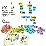 #9: MFM Toys Magnetic Phonic Word Builder ~ 170 Magnetic Tiles + 50 Flashcards (Does Not Include Magnetic Board) Ages 6+