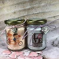 Ti amo Frasi d'Amore 2 vasetti con candele di cera di soia e oli essenziali Anniversario Fidanzamento Proposta di Matrimonio San Valentino Regalo di Natale