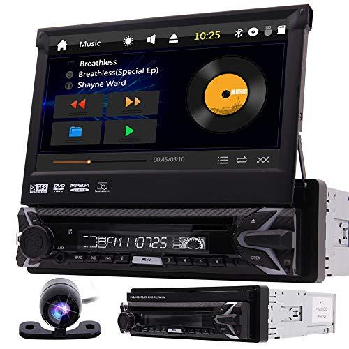 EINCAR Single 1 Lärm-Auto-DVD-Player 7-Zoll-Touchscreen im Schlag GPS-Navigation Auto Stereo-AM FM Radio-Empfänger-Unterstützung Bluetooth USB/SD-Audio/Video-Ausgang SWC Gratis Wireles Remote