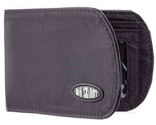 Big Skinny Men's RFID Blocking Curve Bi-Fold Slim Wallet, Holds Up to 20 Cards, Black by Big Skinny (Big Skinny Bifold)