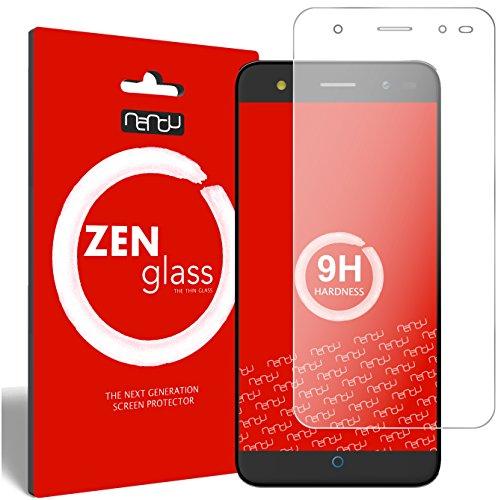 nandu I ZenGlass [2 Stück] Flexible Glas-Folie für ZTE Blade V7 Panzerfolie I Display-Schutzfolie 9H I (Kleiner Als Das Gewölbte Display)