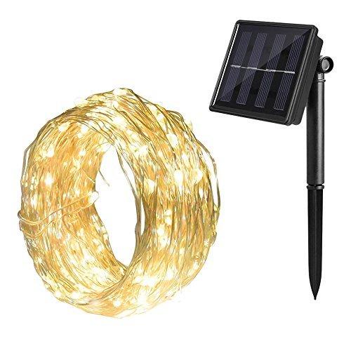 Gresonic Solar Lichtdraht 200er LED Lichterkette Drahtlichterkette Mikro Dekoration Beleuchtung Draht Mini Zubehör für Party Hochzeit Feiern Garten Terrasse Weihnachten Drahtleuchten -