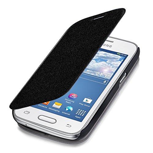 kwmobile Samsung Galaxy Ace 4 (G357h) Cover - Custodia a Libro in Simil Pelle PU per Smartphone Samsung Galaxy Ace 4 (G357h) - Flip Case Protettiva