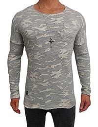 Oversize Camouflage Longsleeve meliert strick Pullover Designer Sweat Jacke Cardigan Hoody Shirt Herren Hoodie m long Sweatjacke Sweatshirt NEU