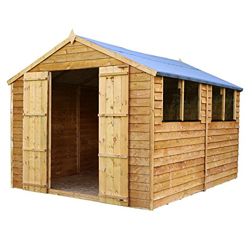 12×8 Overlap Wooden Apex Garden Shed Windows