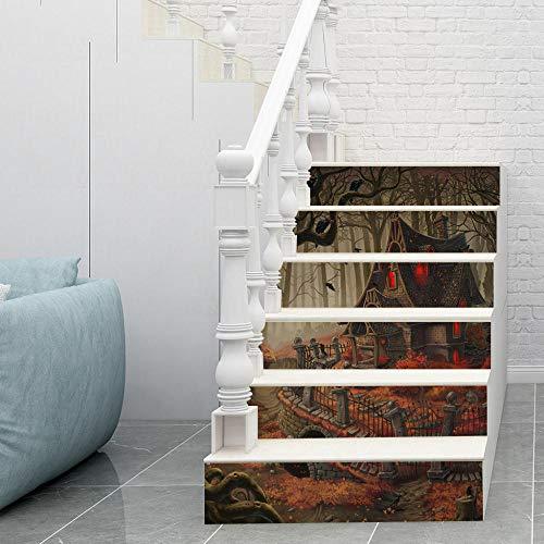 Halloween düsteren alten Haus selbstklebende Aufkleber Dekoration Treppenaufkleber Sockelleiste