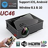 #6: UNIC 2018 UC46 Mini Full hd LED WiFi Projector 1200 lumi HDMI Airplay DLAN
