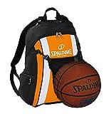 Spalding Basketball Rucksack orange/schwarz mit Ballnetz und Aufdruck Ihres Namen