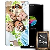 dessana Eigenes Foto transparente Schutzhülle Handy Tasche Case für LG G4