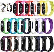 ivoler Cinturino Mi Band 3 / Mi Band 4, [20 Colori] Bracciale Cinturini di Ricambio per Xiaomi Mi Band 3/Xiaom
