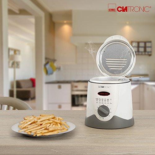 Clatronic FFR 2916 Mini-Fritteuse mit Fondue 09l 840 W weiß-beige - 6