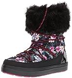 Crocs LodgePoint Graphic Lace Boot Women, Damen Schneestiefel, Mehrfarbig (Tropical/black), 38/39 EU