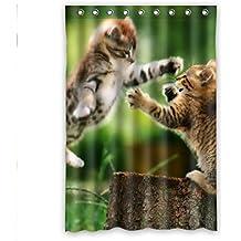"""'doubee personalizado con animales gato cat–Cortina de ducha de poliéster resistente al agua Shower Curtain 48""""x 72,120cm X 183CM, poliéster, E, 48"""" x 72"""""""