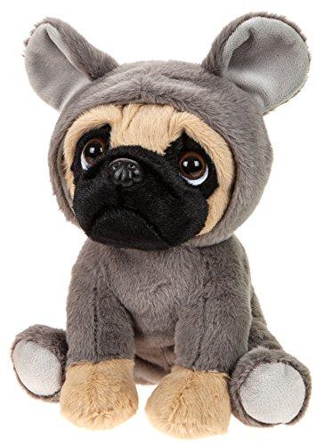 Hunde Kostüm Für Maus - Lashuma Stoffhund Mops angezogen mit Mauskostüm, Plüschtier 20 cm