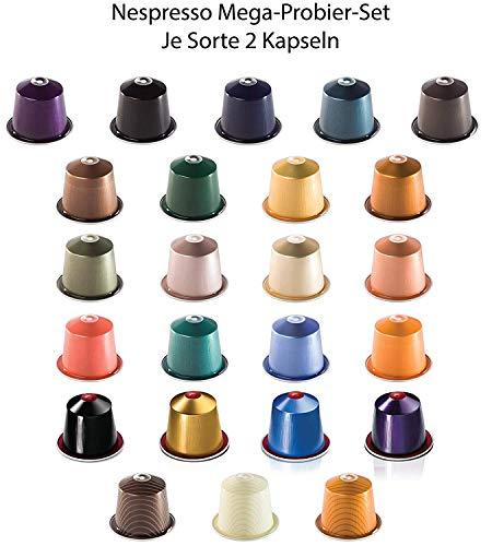 Nespresso Kapseln Probierset - 2x ALLE SORTEN - für Nespresso Kapselmaschine
