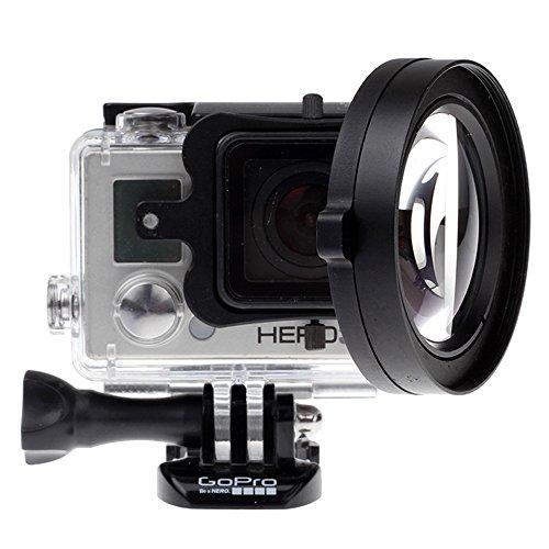 Yingge Lente Macro HD DE 58 mm con Cierre para GoPro Hero 5 4 3