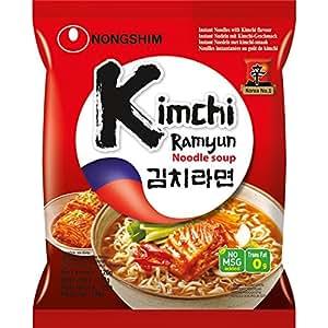 Nong Shim Nouilles Instantanées Kimchi Ramen 120 g - Pack de 20