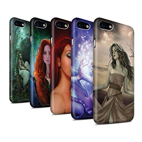 Officiel Elena Dudina Coque / Clipser Matte Etui pour Apple iPhone 7 / Princesse Design / Caractère Conte Fées Collection Pack 5pcs