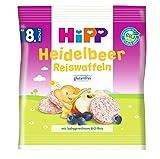 HiPP Heidelbeer Reiswaffeln, ab dem 8. Monat, 7er Pack (7 x 30 g)