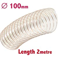 Manguera flexible transparente para extractor de polvo, 100 mm de diámetro x 2 m de