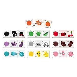 Janod- Juego DE CORRESPONDENCIAS Puzzle TRIOCOLOR Association, Multicolor (Juratoys SAS J02709)