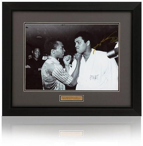 Sugar Ray Leonard signéà la main 40.6x30.5cm Muhammad Ali photo