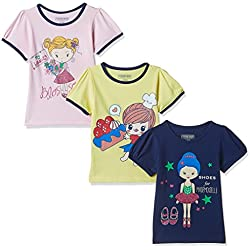 Cherokee Girls' T-Shirt (Pack of 3) (272518997_Assorted_03Y_HS)