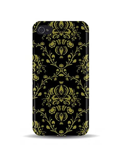 iPhone 5/5S Flock Fashion Chintz Pattern (Black & Gold) 3D Mobile Phone Cover