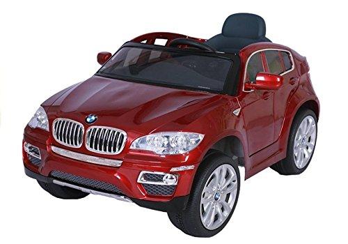 Elektro Kinderauto Elektrisch Ride On Kinderfahrzeug Elektroauto Fernbedienung - BMW X6 - Rot Metallisch