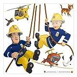 Bilderwelten Wandtattoo - Feuerwehrmann Sam - rettet Dich, 40cm x 40cm