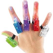 Inno Tech City super bright de dedos de linternas de coloures de LED dedo de luces ideal para fiestas con banda de goma