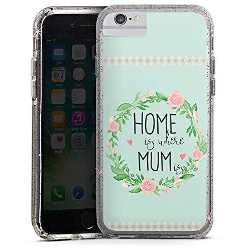 Apple iPhone 7 Bumper Hülle Bumper Case Glitzer Hülle Muttertag Mama Geschenk Bumper Case Glitzer rose gold